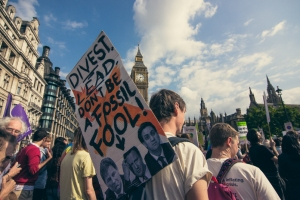 Protesters on the London People's Climate March, 21st September 2014. Photo/Antonio Acuna